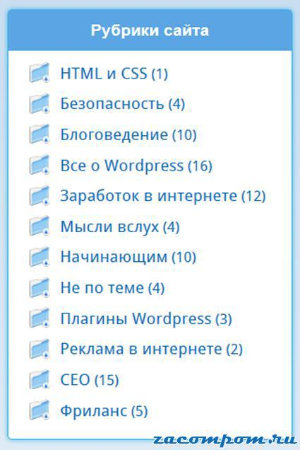Функция-рубрик-WordPress