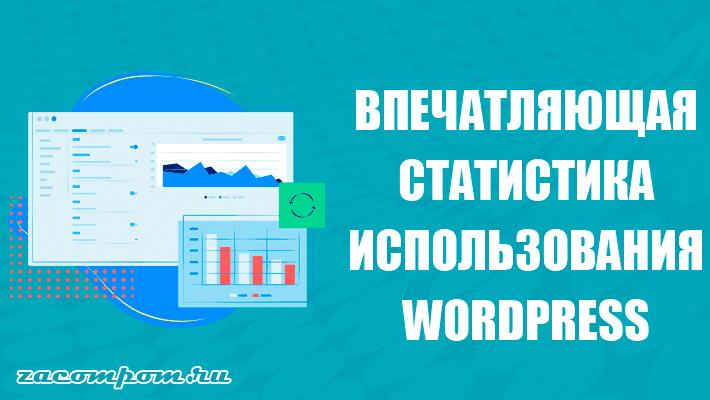 Впечатляющая статистика использования WordPress
