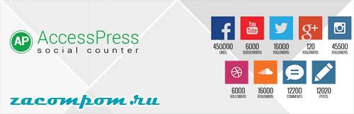 Social Counter for WordPress — AccessPress Social Counter