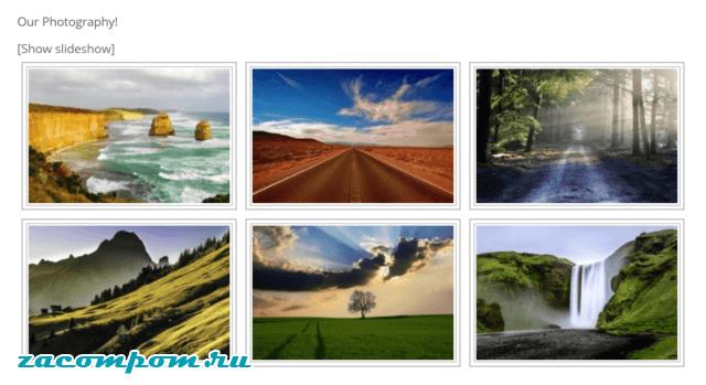 Почему вы можете включить галерею изображений на свой сайт