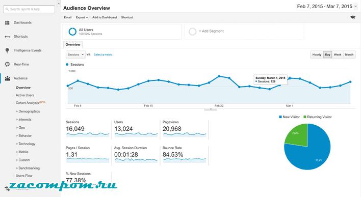 Насколько популярен мой сайт?