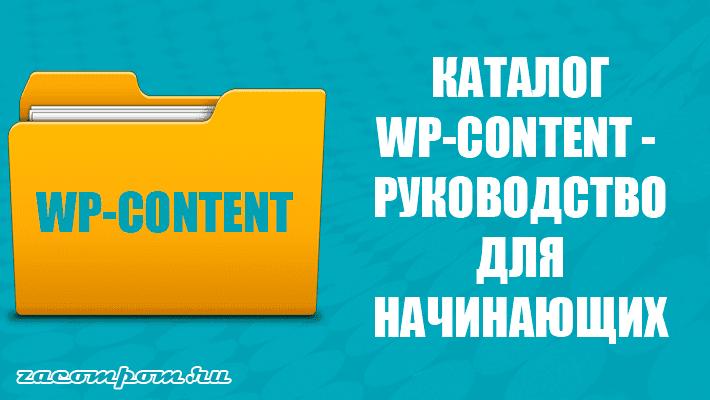 Папка wp-content - руководство для начинающих по наиболее важному каталогу WordPress