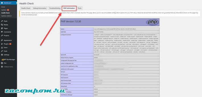 Информация PHP