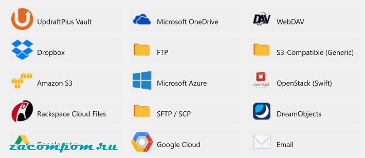 к выбору места хранения файлов
