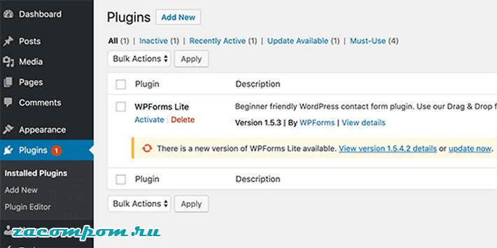 Держите плагины и темы WordPress обновленными