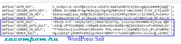 Соли WordPress