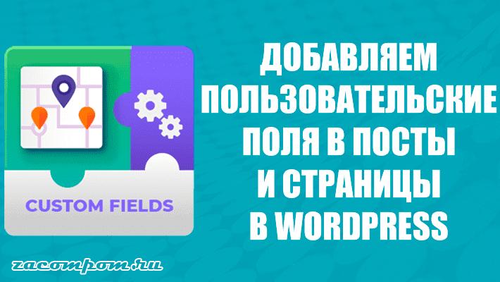 Как добавить пользовательские поля в ваши сообщения WordPress