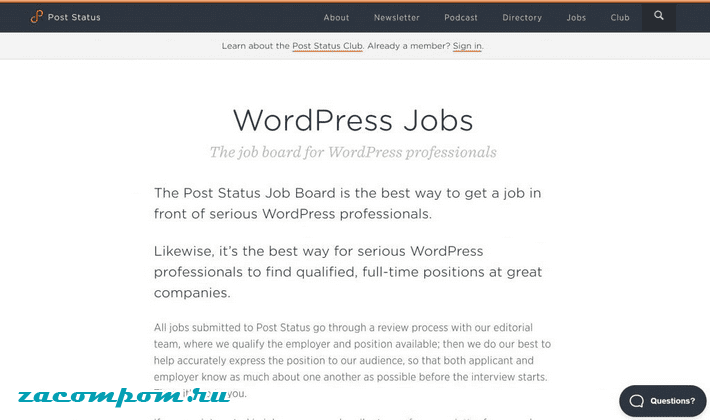 Post Status Job Board