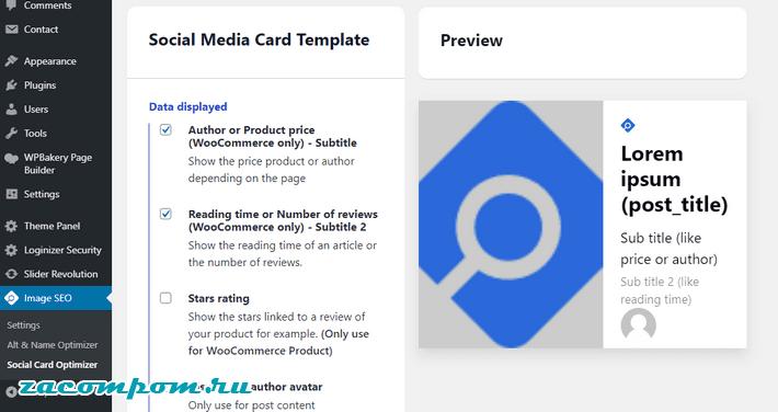 Social Card Optimize